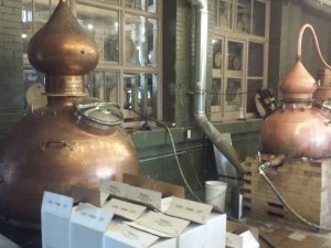 Award winning rum has been coming out of these copper kettles since October 2013. Photo by Alex Stumpf for TPOP